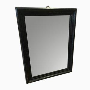 Espejo vintage pequeño con marco negro