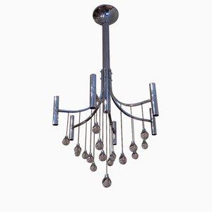 Lámpara de araña vintage de cristal de Sciolari