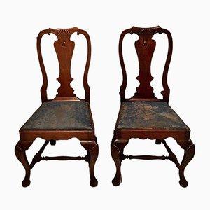 Irische Vintage Beistellstühle, 2er Set