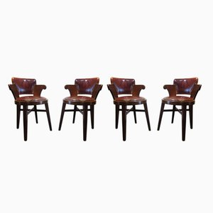 Vintage Bridge Chairs, Set of 4