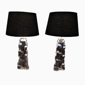 Swedish Table Lamps from Orrefors, 1950s, Set of 2