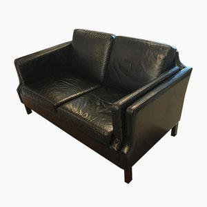 Vintage Two-Seater Leather Sofa