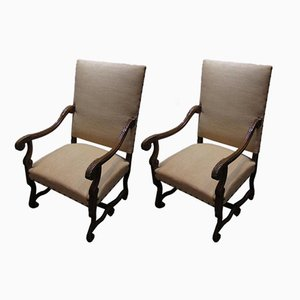 Antique Throne Chairs, 1900s, Set of 2