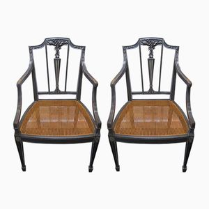 Vintage Sheraton Style Side Chairs, Set of 2