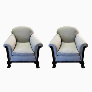 19th Century English Armchairs, Set of 2