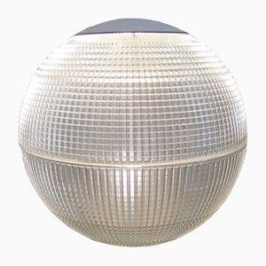 Grande Lampe avec Globe en Verre de Holophane