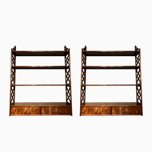 Vintage Chippendale Shelves, Set of 2