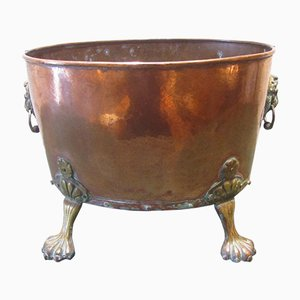 19th Century Copper & Brass Wine Cooler or Coal Bucket