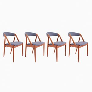 Mid-Century Danish Dining Chairs by Kai Kristiansen, Set of 4