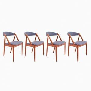 Sedie da pranzo Mid-Century di Kai Kristiansen, Danimarca, set di 4