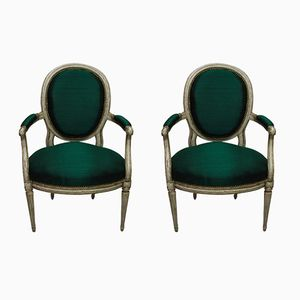 18th Century French Armchairs, 1780s, Set of 2