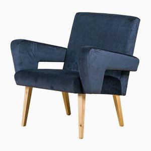 Mid-Century Velvet Armchair from Jitona, 1960s
