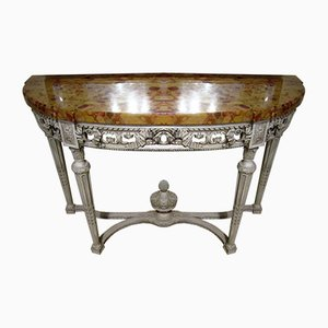 19th Century French Painted Wood Console Table
