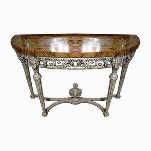 Consola francesa de madera pintada del siglo XIX