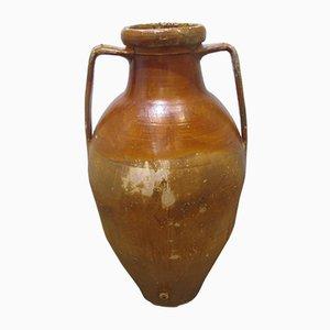 Vaso da olio d'oliva grande antico in terracotta
