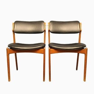 Sedie in teak di Erik Buch per OD Møbler, Danimarca, anni '60, set di 2
