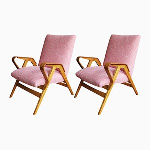 Mid-Century Model 24-23 Armchairs by František Jirák for Tatra, Set of 2