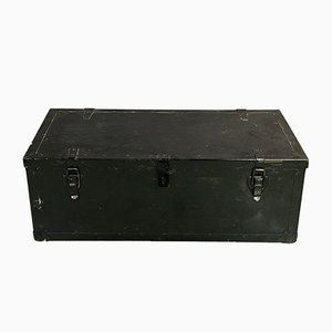 Mid-Century Wooden and Iron Trunk