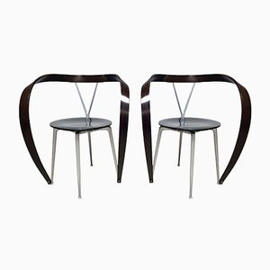 Vintage Revers Dining Chairs by Andrea Branzi for Cassina, 1990s, Set of 2