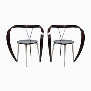 Vintage Revers Esszimmerstühle von Andrea Branzi für Cassina, 1990er, 2er Set