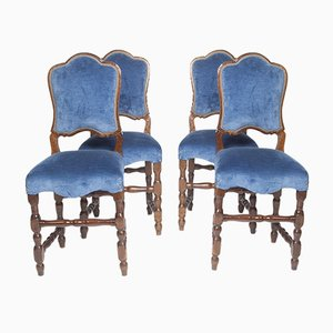 Antique Italian Dining Chairs, 1650s, Set of 4