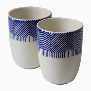 Tasses Little by Little en Porcelaine par Madalina Teler, Set de 2