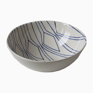 Large Mundane Geometry Bowl by Mãdãlina Teler for De Ceramică
