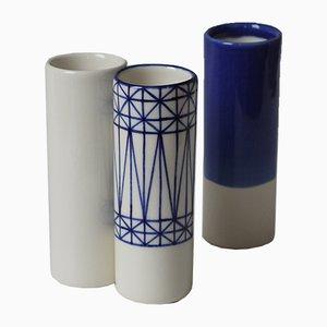 Jarrones Mundane Geometry pequeños de Mãdãlina Teler para De Ceramică. Juego de 3