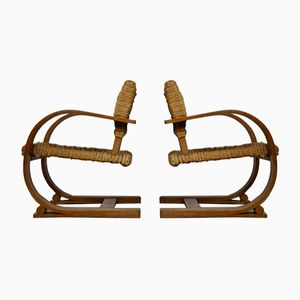 Lounge Chairs by Audoux Minet for Vibo Vesoul, 1940s, Set of 2