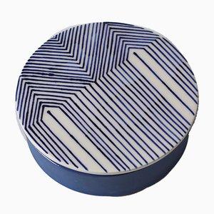 Blaue Little by Little Porzellandose von Mãdãlina Teler für De Ceramică