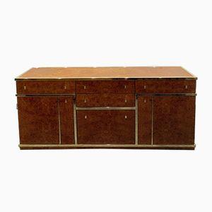 Vintage Italian Burr Walnut Sideboard, 1970s