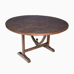 19th Century Walnut and Poplar Vendange Table