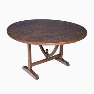 Vendange-Tisch aus Nuss- & Pappelholz, 19. Jh.