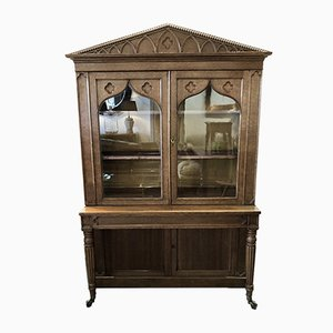 Small Antique Gothic Bookcase