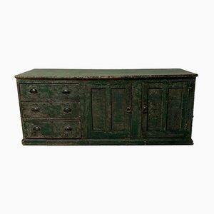 Antike Kurzwaren-Ladentheke aus Pinienholz