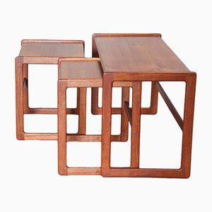 Teak Nesting Tables by Arne Hovmand Olsen for Mogens Kold, 1960s