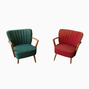 Cocktail Lounge Chairs, 1950s, Set of 2