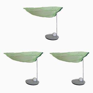 Lámparas de mesa modelo Brezza de Adriano Anastasio para Artemide, 2000s. Juego de 3