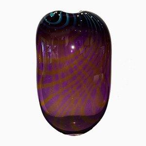 Vase Vintage en Verre Murano Artisanal par Branconi, Italie, 1960s