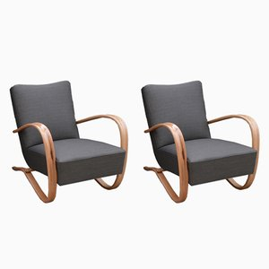 H-269 Armchairs by Jindřich Halabala for Thonet, 1930s, Set of 2