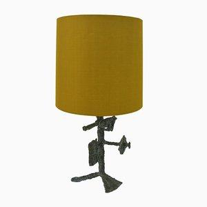 Brutalistische Tischlampe aus Bronze von Arnold d'Altri, 1950er