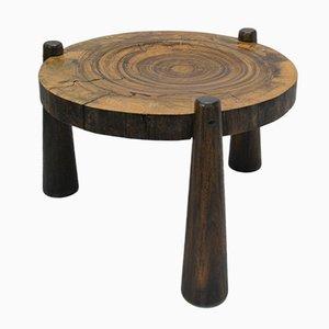 Mesa de centro vintage hecha con un tronco de palisandro del Brasil