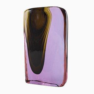 Skulpturale Vase aus geblasenem Muranoglas von Antonio da Ros für Cenedese, 1974