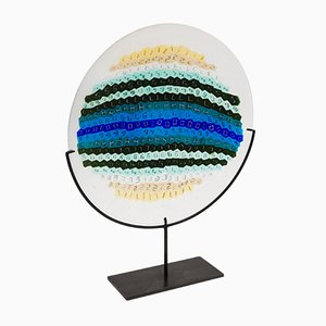Murrine Plate by Laura de Santillana for Venini, 1970s