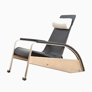 Reclining Grand Repos Lounge Chair by Jean Prouvé for Tecta, 1983