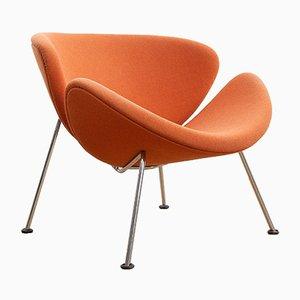 Orangener Vintage Slice Chair von Pierre Paulin für Artifort, 1960er