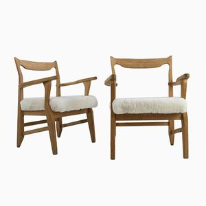 French Armchairs by Guillerme et Chambron for Votre Maison, 1960s, Set of 2