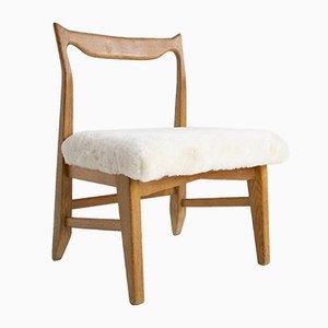 Französischer Beistellstuhl von Guillerme et Chambron für Votre Maison, 1960er