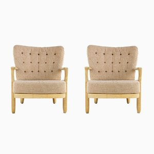 Juliette Armchairs by Guillerme et Chambron for Votre Maison, 1960s, Set of 2