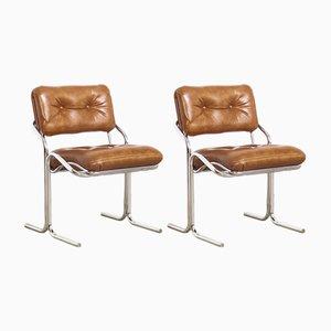 Sillas auxiliares Naugahyde vintage de Cal-Style Furniture Co.. Juego de 2